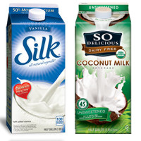 Print a coupon for $2 off two Silk or So Delicious Dairy Free half gallons or larger