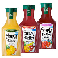 Print a coupon for $1 off a 59 oz. bottle of Simply Beverages including Fruit Punch, Tropical, Mixed Berry Juice or more