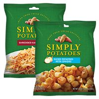 Print a coupon for $1 off any two Simply Potatoes Hash Browns and/or Diced Potatoes