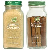 Print a coupon for $1.50 off any two Simply Organic Bottled Spices