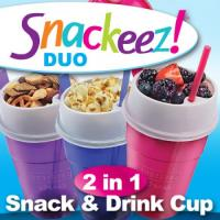 Save $1.50 on Snackeez DUOs - Have your drink and snack in one hand