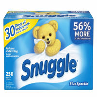 Print a coupon for $0.50 off a box of Snuggle Blue Sparkle Dryer Sheets