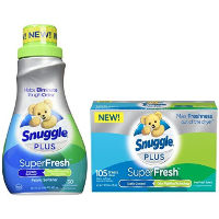 Print a coupon for $0.50 off Snuggle Plus SuperFresh Liquid or Sheets