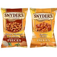 Print a coupon for $1 off any two Snyder's of Hanover products, 5oz. or larger