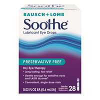 Print a coupon for $3 off any Bausch + Lomb Soothe Lubricant Eye Drops