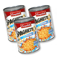Print a coupon for $0.40 off three cans of Campbell's SpaghettiO's