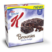 Save $0.50 on one box of New! Kellogg's Special K Brownies