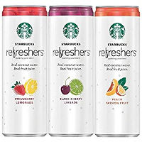 Print a coupon for $2 off any three 12oz. Starbucks Refreshers sparkling juice blends