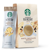 Save $1 on a package of Starbucks VIA White Chocolate Mocha (5 ct. or larger)