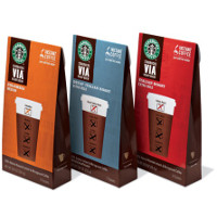 Print a coupon for $2.25 off any two Starbucks VIA Instant Coffee products