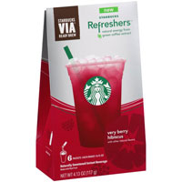Save $1 on a package Starbucks VIA Refreshers, 4 count or larger