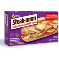 Save $1 on any box of Steak-umm Chicken Breast Sandwich Steaks