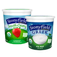 Print a coupon for $2.50 off any two Stonyfield Organic Quarts