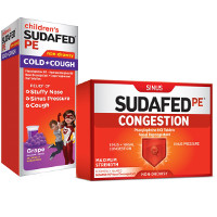 Print a coupon for $1 off Sudafed PE or Children's Sudafed PE