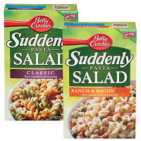 Print a coupon for $1 off four boxes of Betty Crocker Suddenly Salad