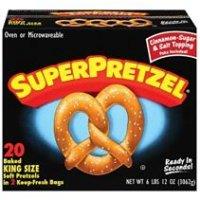 Save 75 cents on any SuperPretzel  Bavarian Soft Pretzel product