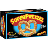 Print a coupon for $0.50 off one SuperPretzel Soft Pretzel product
