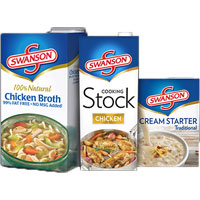 Save $1 on two cartons of Swanson Broth, Stock or Cream Starter Traditional