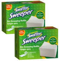 Print a coupon for $2 off two Swiffer Sweeper Dry Refills