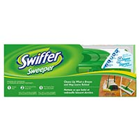 Print a coupon for $2 off any Swiffer Sweeper Starter Kit