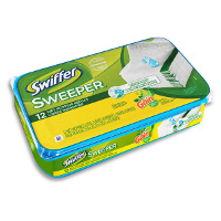 Print a coupon for $0.75 off one Swiffer Sweeper Wet Refill