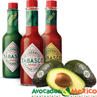 Print a coupon for $1 off any Tabasco Brand Pepper Sauce when you buy two Avacados From Mexico