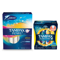 Print a coupon for $3 off two boxes of Tampax Pearl Tampons