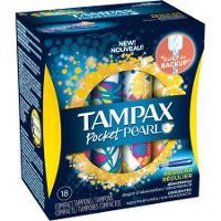 Save $1 on any box of Tampax Pearl Tampons, 18 count or larger