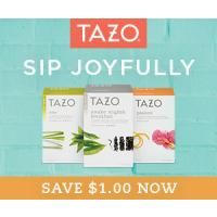Print a coupon for $1 off any Tazo Fiterbag Tea