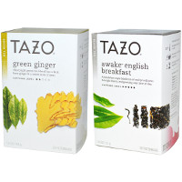 Save $1.50 on any two boxes of Tazo filterbag tea