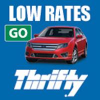 Get an extra 10% off already low rates from Thrify Car Rental