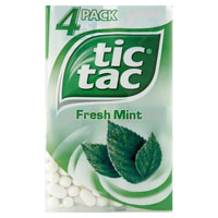 Save $1 on Two Single Packs of Tic Tac mints