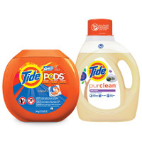 Print a coupon for $1 off selected Tide products