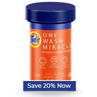 Get up to 55% when you buy Tide One Wash Miracle in bulk plus an extra 20% off