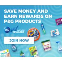Get Great Savings on your Favorite P+G Brands such as Charmin and Tide