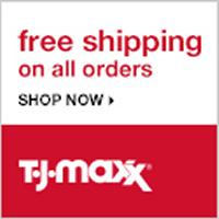 Get free shipping on all orders of $75 or more at T.J. Maxx