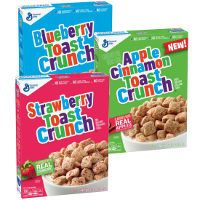 Print a coupon for $1 off a box of Apple Cinnamon, Blueberry or Strawberry Toast Crunch Cereal