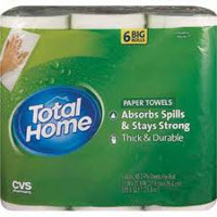 Save $1 on any 6-rolls package of CVS Brand Total Home Paper Towels