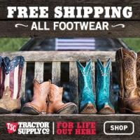 Free shipping on all Tractor Supply orders shipped to your local store, no minimums!