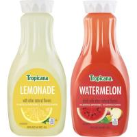 Print a coupon for $1 off two 52 ounce bottles of Tropicana Lemonades or Premium Drinks