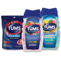 Print a coupon for $0.75 off any Tums product, 32 ct. or larger