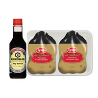 Save $2 when you buy one Tyson Cornish Hen twin pack and one Kikkoman Soy Sauce