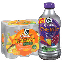Print a coupon for $0.75 off one V8 V-Fusion + Energy product