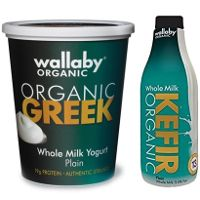 Print a coupon for $1 off any Wallaby Organic Greek Yogurt or Kefir