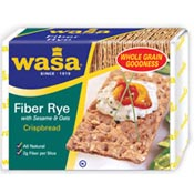 Print a coupon for $1 off Wasa Crispbread or Wasa Thins