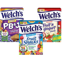 Save $1 on any two packages of Welch's Fruit Snacks, Fruit 'n Yogurt Snacks or PB and J Snacks