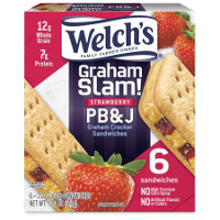 Print a coupon for $1 off any Welch's Graham Slam PB+J Graham Cracker Sandwiches