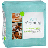 Save $1 on one box of Well Beginnings Baby Wipes at Walgreens, 216 count or larger