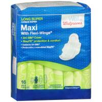 Save $1 on two packages of Well at Walgreens Ultra Thin or Maxi Pads with Flexi-Wing, 28ct or larger