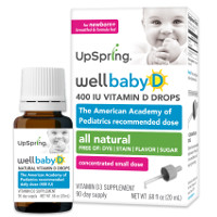 Print a coupon for $2 any 20mL bottle of WellBaby D Vitamin D3 Infant Drops. Available at Walgreens and Target.